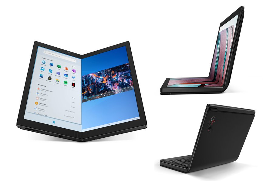 lenovo thinkpad x1 fold design back foldable screen