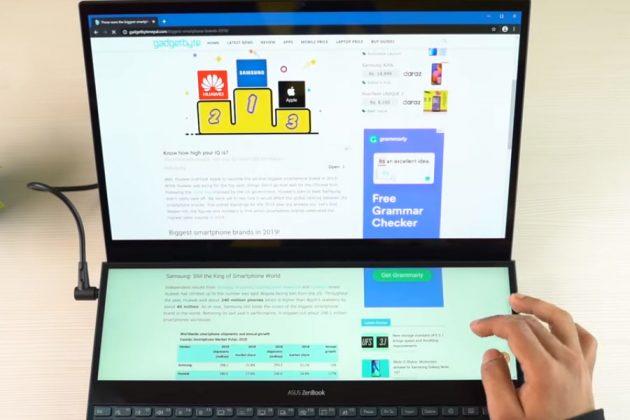 ASUS ZenBook Pro Duo Extending Apps To Dual-Display