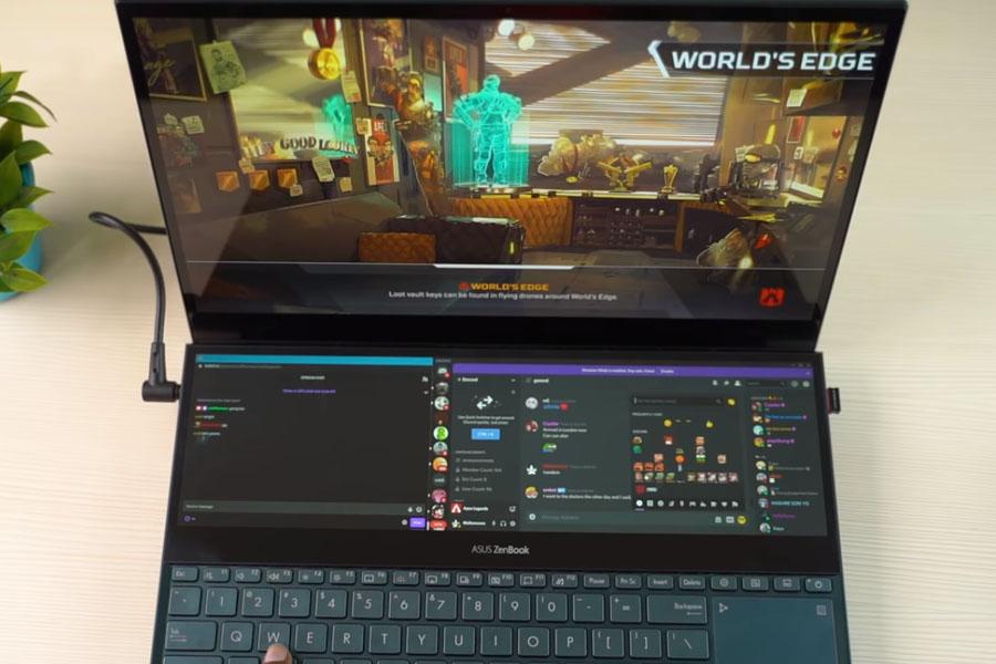 ASUS ZenBook Pro Duo Gaming with Multitasking