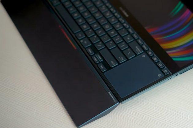 ASUS ZenBook Pro Duo Wrist-rest attached