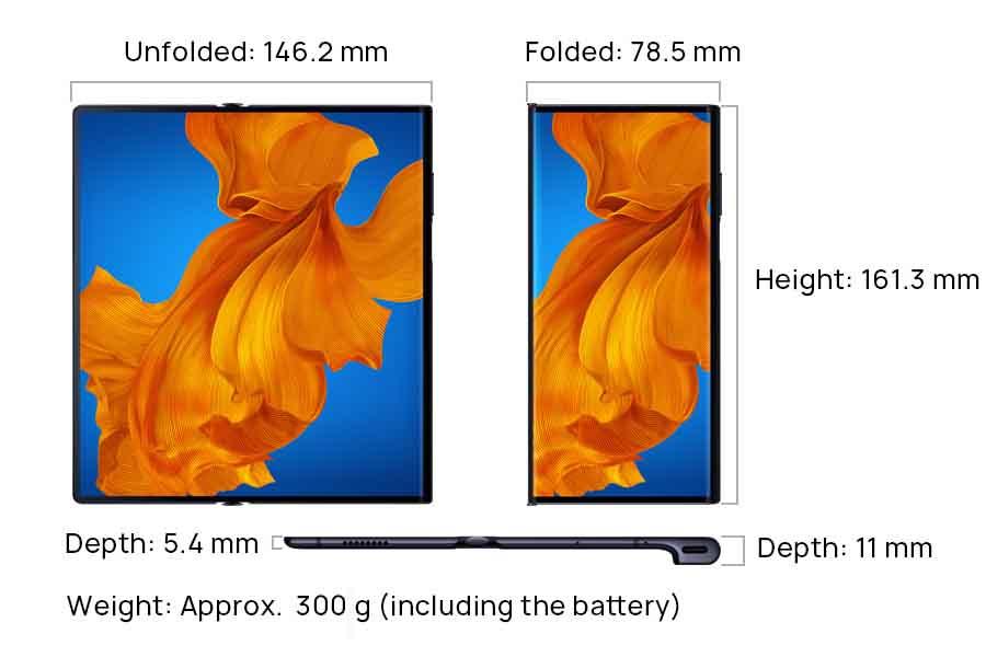 Huawei Mate Xs Dimensions