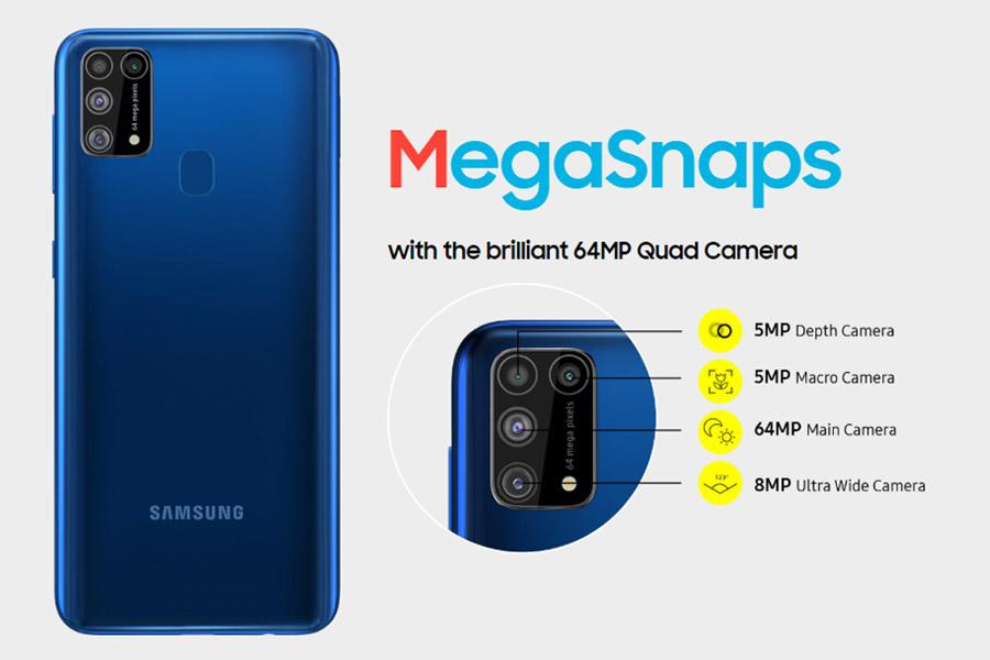 Samsung Galaxy M31 Quad cameras