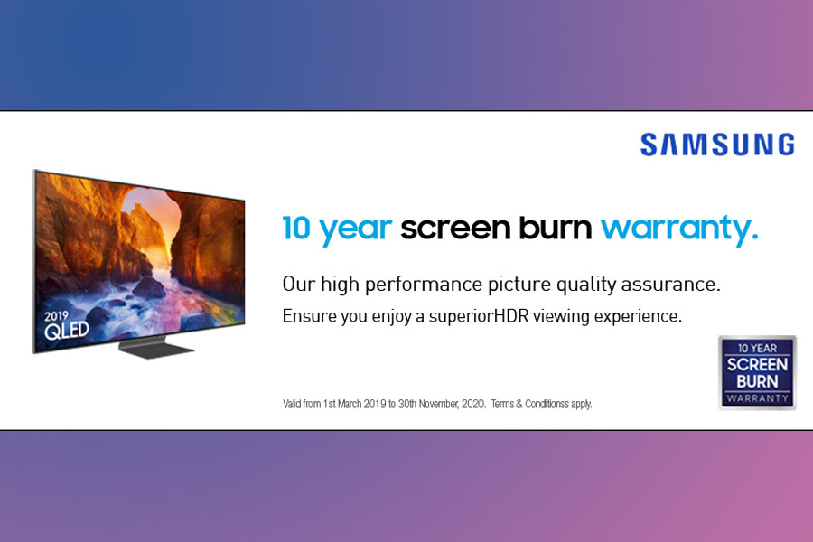 Samsung TV 10 year screen burn warranty - TV buying guide