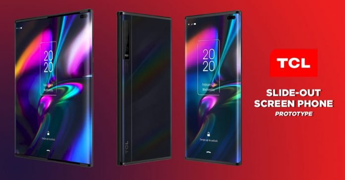 TCL slide-out screen concept phone (prototype)