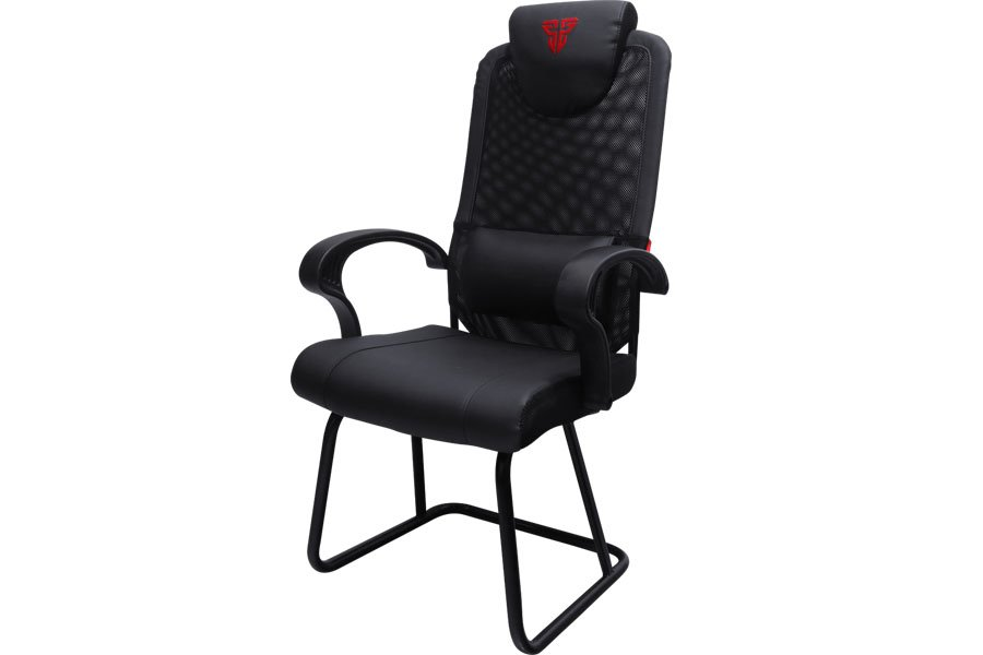 fantech alpha gc-185x gaming chair leather back lumbar support black