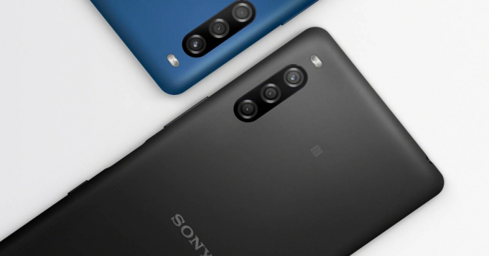 sony xperia l4 blue black rear-camera