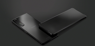 sony xperia mark 10 II black sleek display