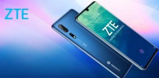 ZTE Axon 10s Pro blue display front camera curved display rear camera 5G