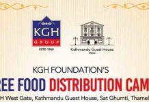 Free Food Distribution camp