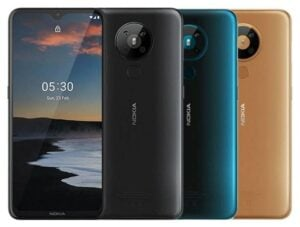 Nokia 5.3 - Cameras Color options Cyan Sand Charcoal