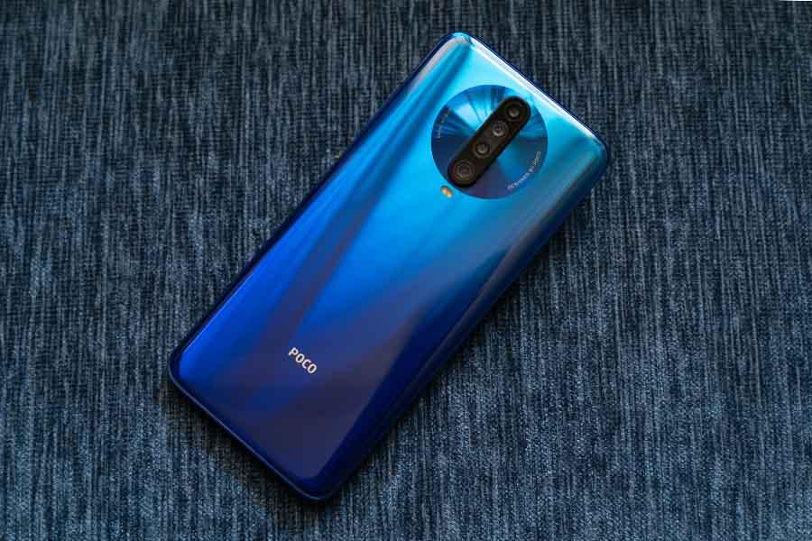 POCO X2 Design blue color quad cameras