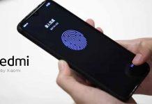 Redmi in-display fingerprint sensor in LCD panel