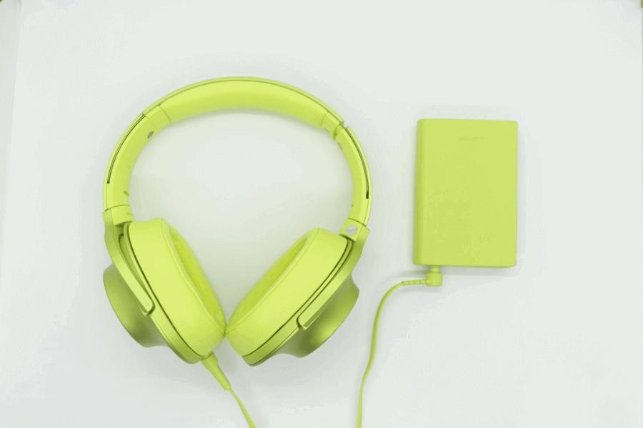 Sony MDR-100AAP headphone green