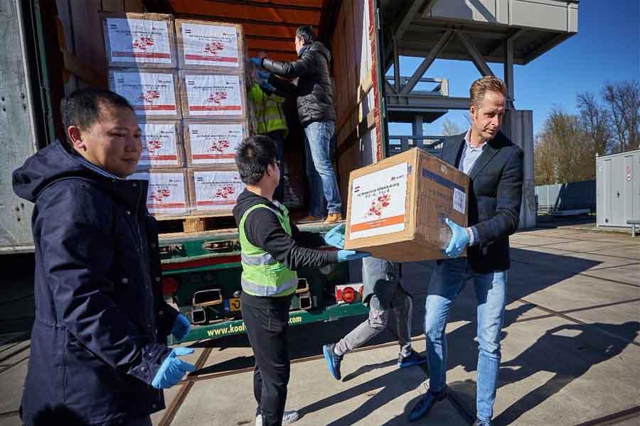 huawei mask donation europe
