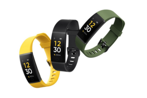 realme band fitness band black green yellow