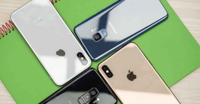 smartphones shipment apple samsung