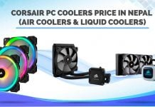 Corsair PC Coolers Price in Nepal air liquid gaming accessories availability pc build cpu fans