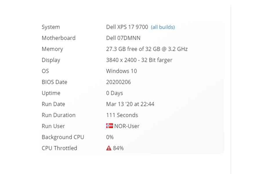 Dell XPS 17 9700 benchmark listing specs price rumors availability