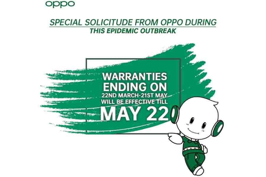 Oppo extends warranty period amidst coronavirus spread smartphone brands