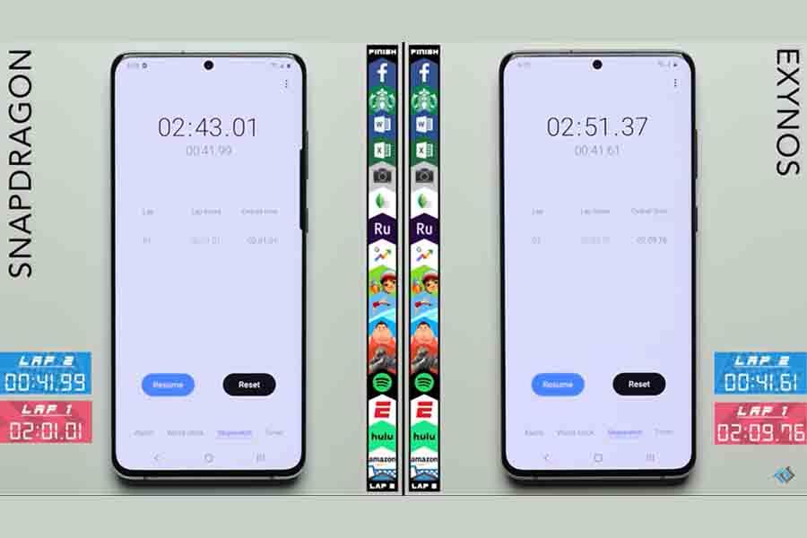 Samsung Galaxy S20 Plus Exynos 990 vs Snapdragon 865performance speed test price in nepal specs