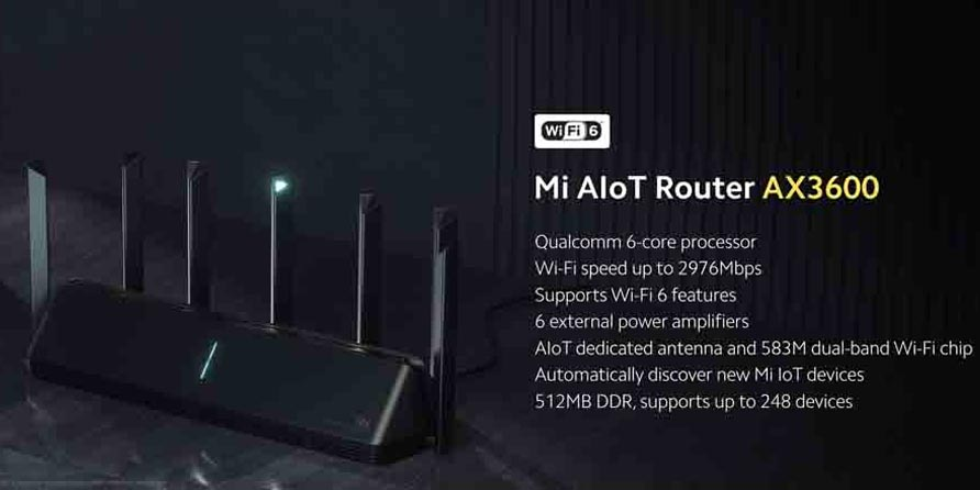 Xiaomi Mi AIot Router AX3600 Launched