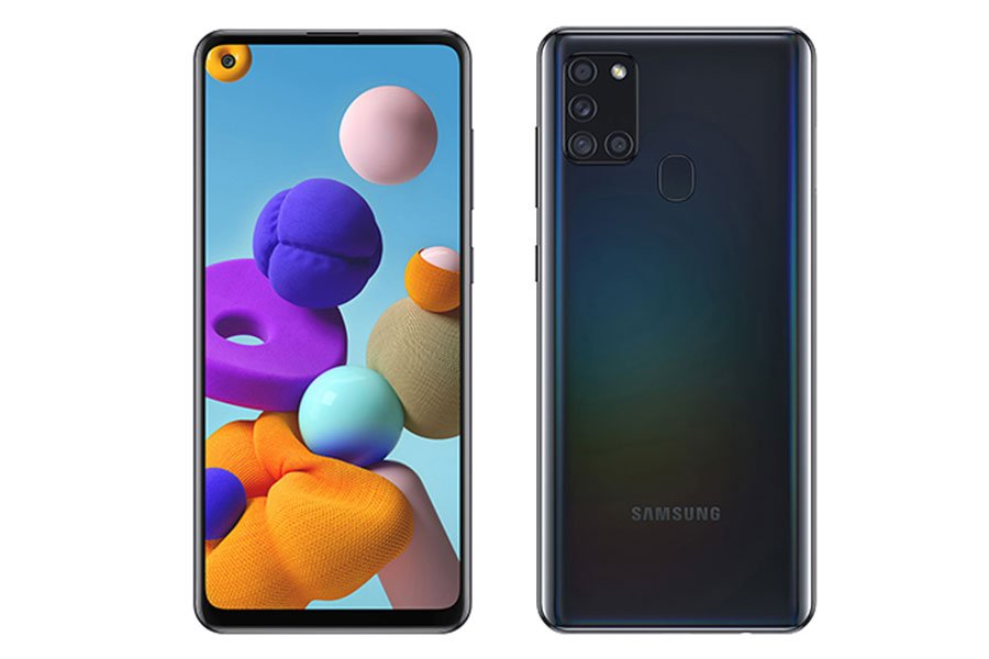 samsung galaxy a21s design display