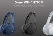 sony WH-CH710N black blue white