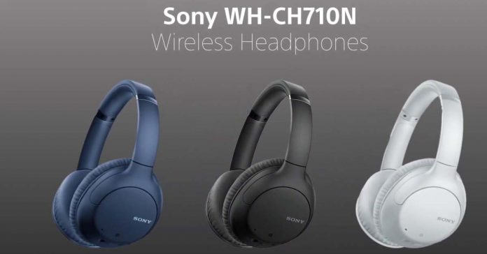 sony WH-CH710N black blue white