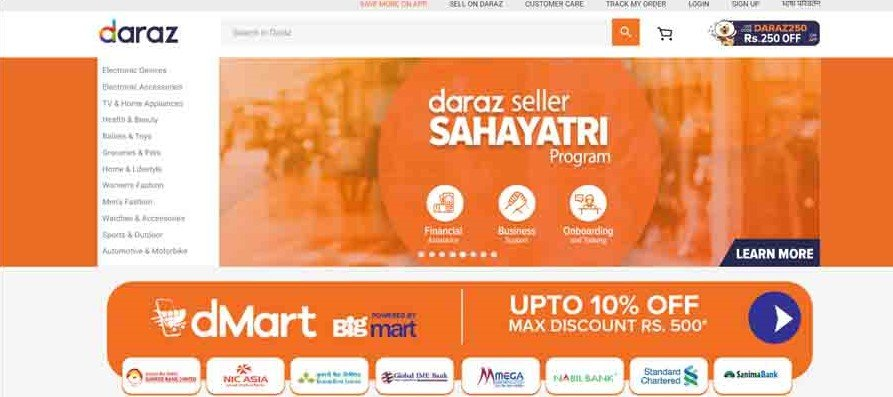 Daraz app homepage best online shopping apps nepali top best must have list