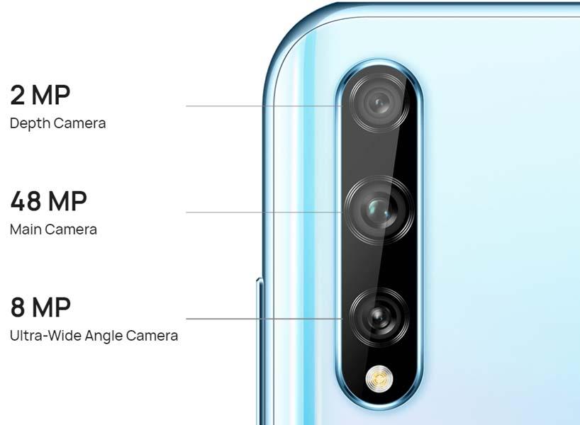 Huawei Y8p triple cameras