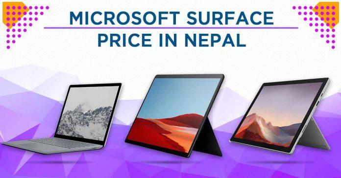Microsoft Surface Laptops Price Nepal