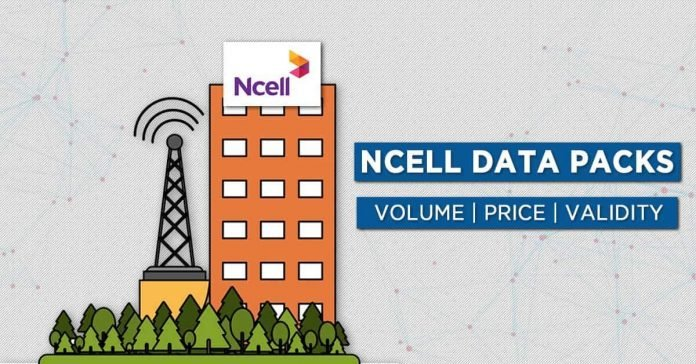 Ncell Data packs price detail internet packages plans validity volume 4G