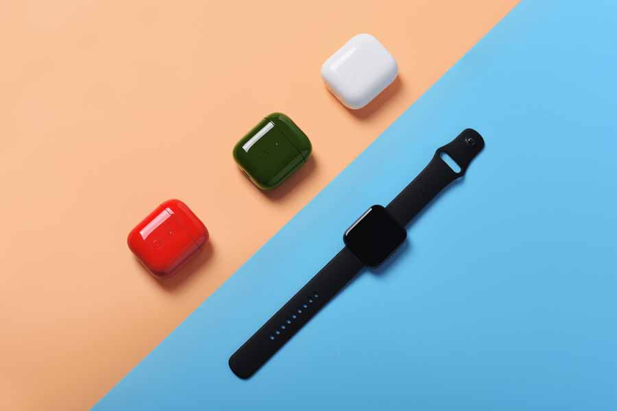 Realme Buds Air Neo color options charging case watch