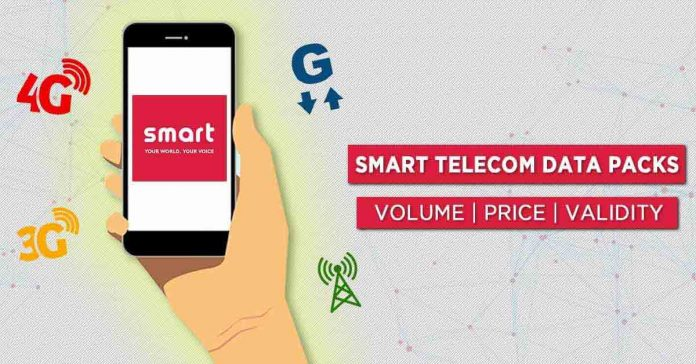 Smart Telecom Data Packs price volume validity internet plans rates