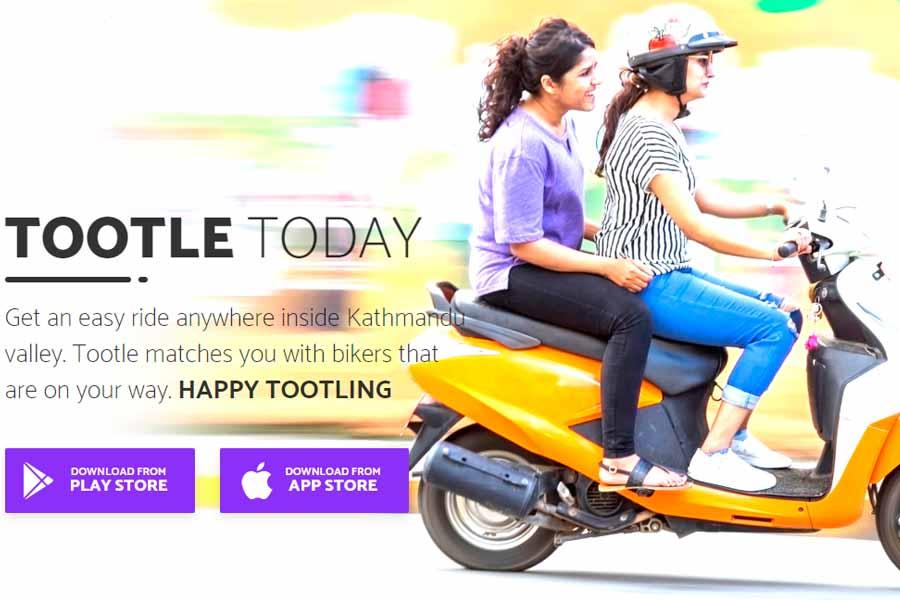 Tootle App ride hailing service app nepal