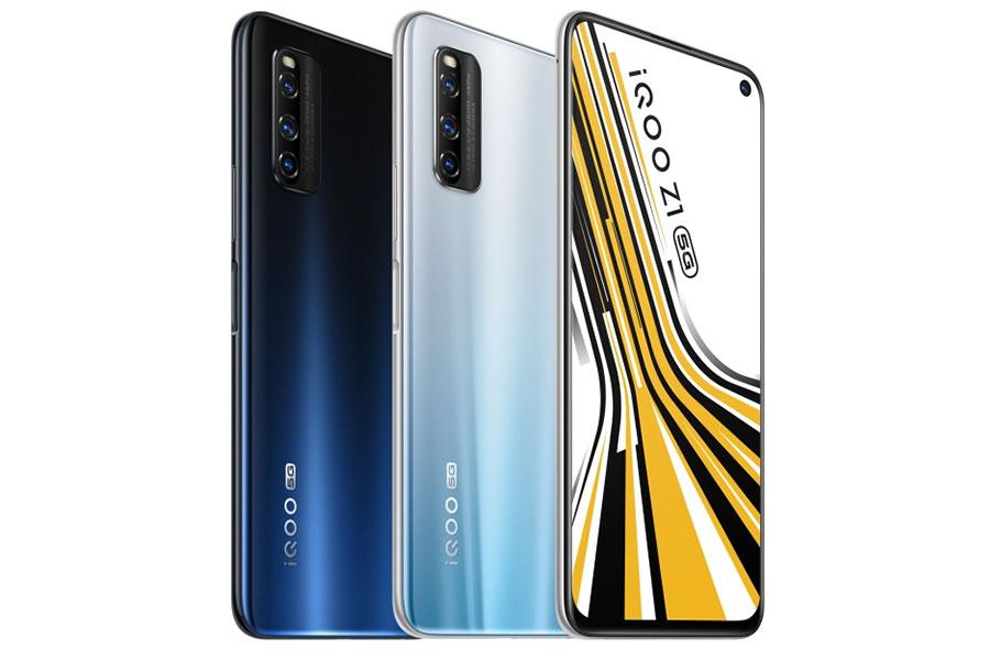Vivo iQOO Z1 color variants design display