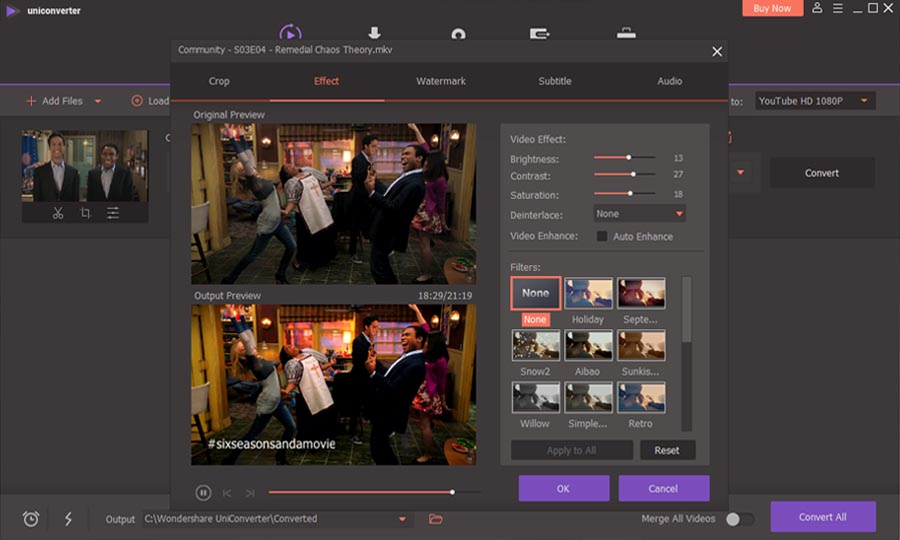 WonderShare UniConverter - Video Editing