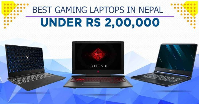 best gaming laptops in nepal under 2 lakhs