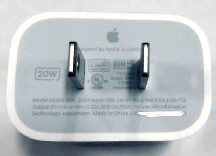 Apple iphone 12 A2035 charger USB Type C PD