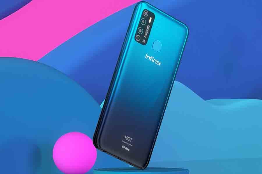Infinix Hot 9 Pro gem cut design