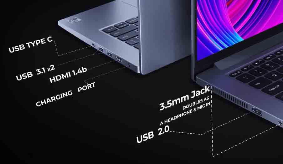 Mi NoteBook 14 Horizon Edition ports