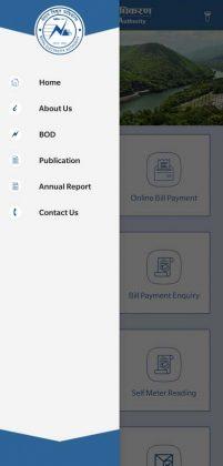 NEA app - New design - Side Menu