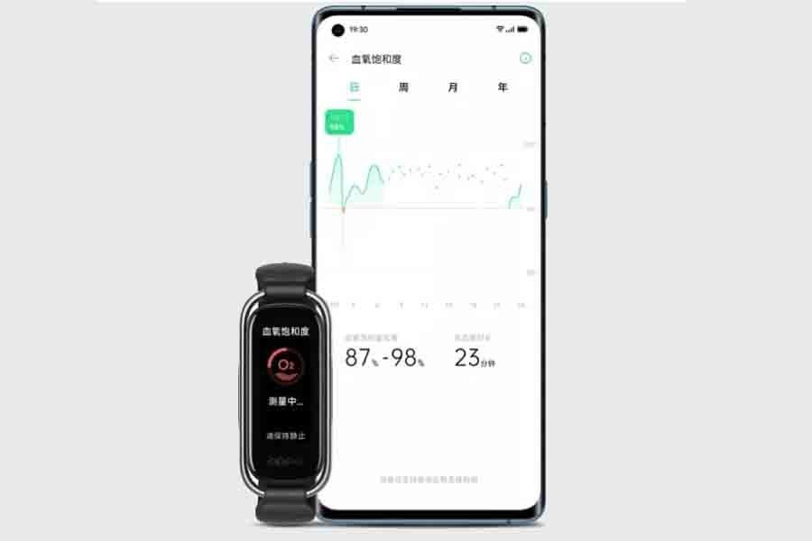 Oppo Band heart rate monitoring