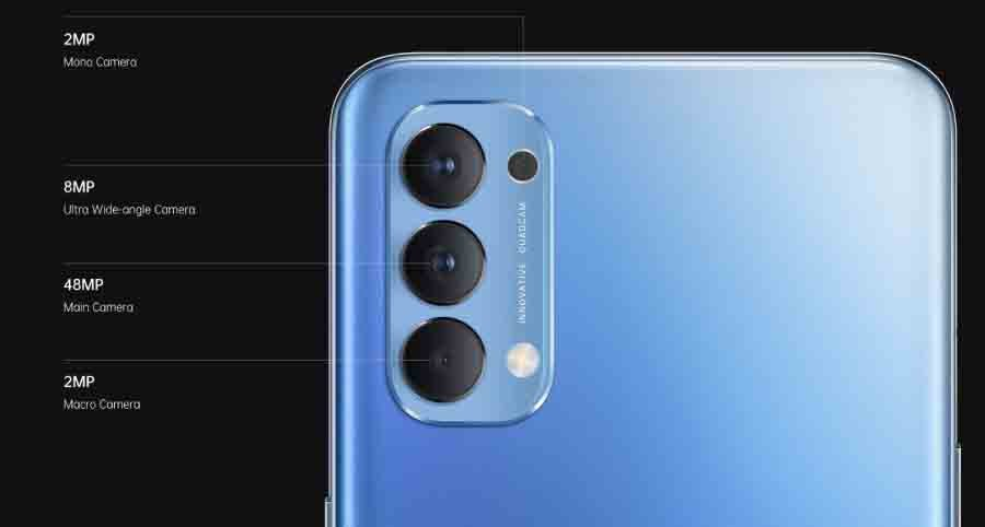Oppo Reno4 Global Variant Quad Camera setup