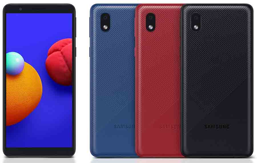 Samsung Galaxy A01 Core Design and Color options
