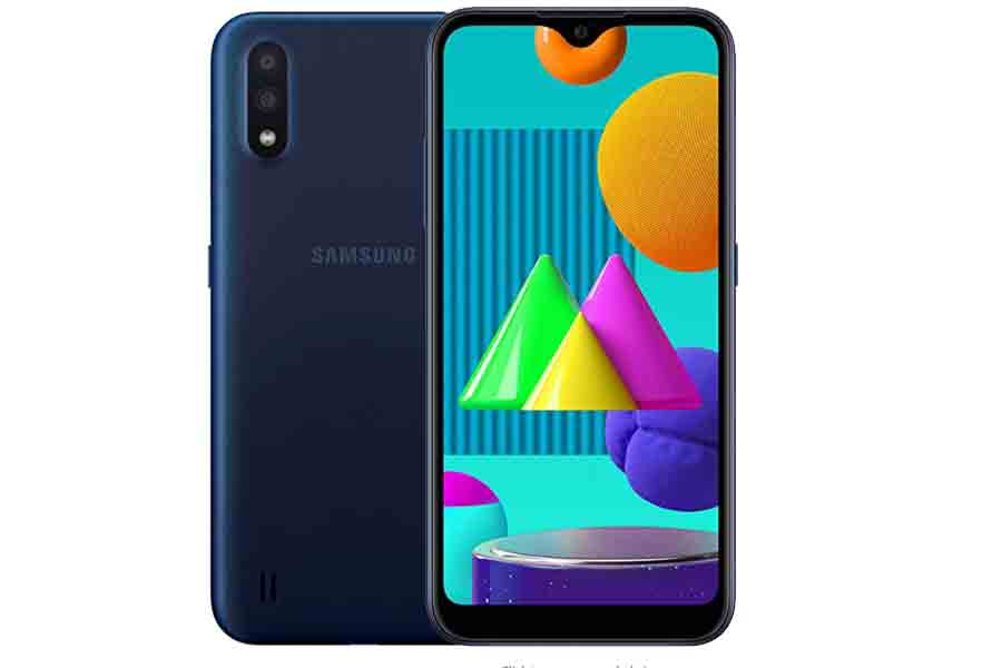 Samsung Galaxy M01 design infinity v display