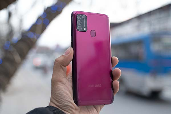 Samsung Galaxy M31 Red color back
