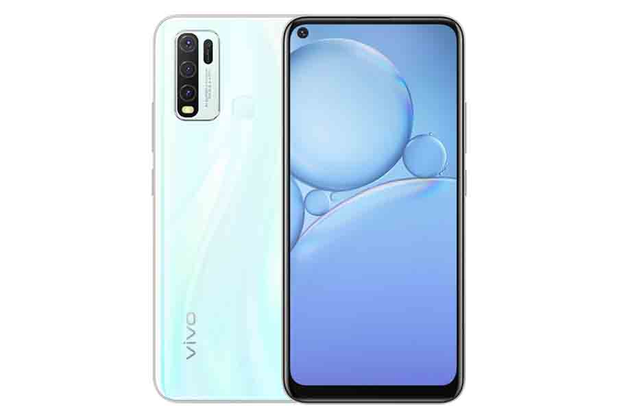 Vivo Y30 design moonstone white