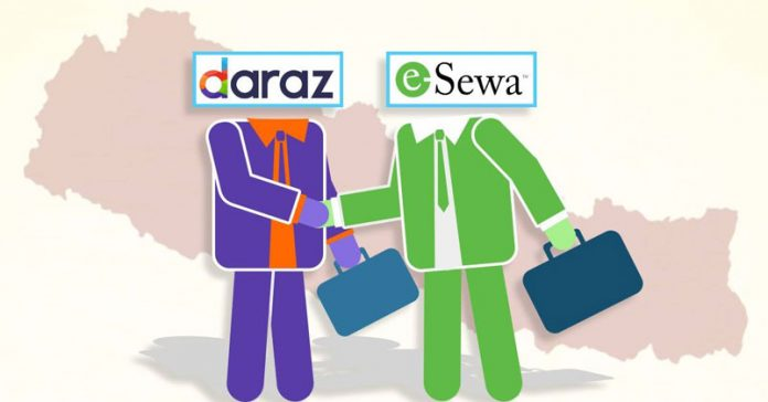 daraz esewa partnership
