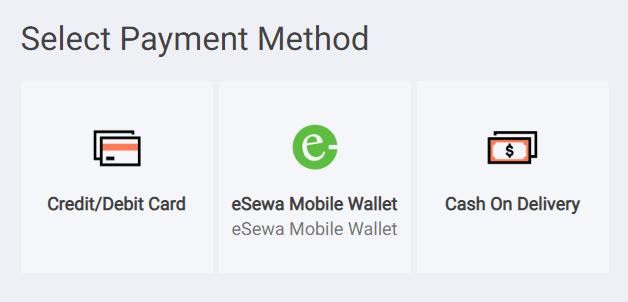 daraz payment option esewa